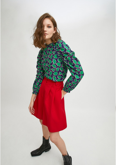 Floral tulip print top with...