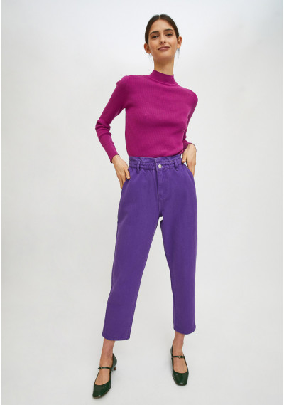 Violet high-waisted jeans...