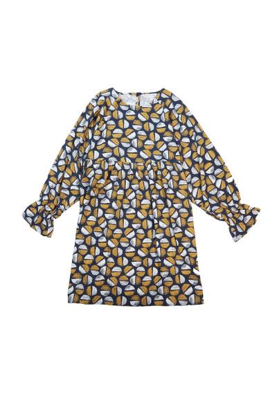 Vestido babydoll corto con estampado de granos de café -  Compañía Fantástica