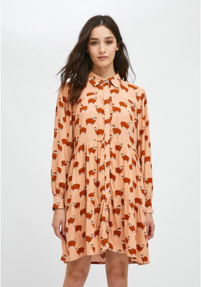 Ram print mini shirt dress -  Compañía Fantástica