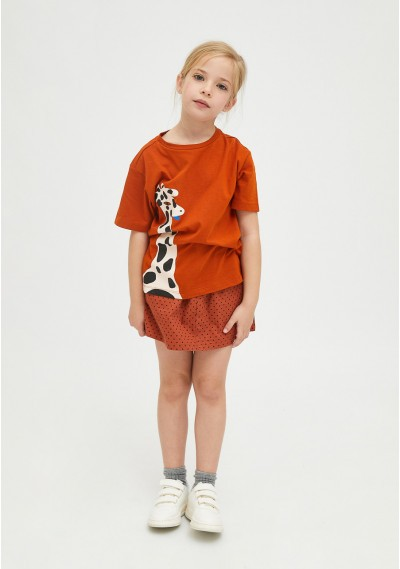 Giraffe print unisex cotton T-shirt -  Compañía Fantástica