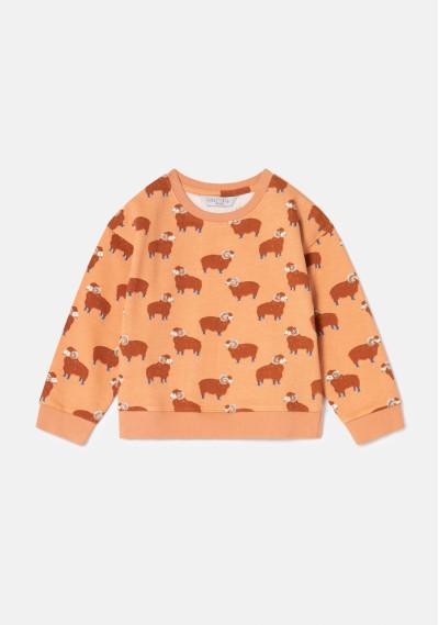 Ram print unisex dropped shoulder sweatshirt -  Compañía Fantástica