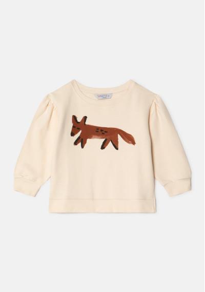 Fox print unisex dropped shoulder sweatshirt -  Compañía Fantástica