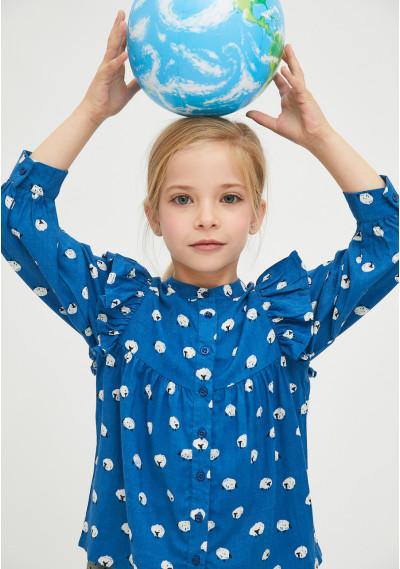 Camisa de niña con animal...