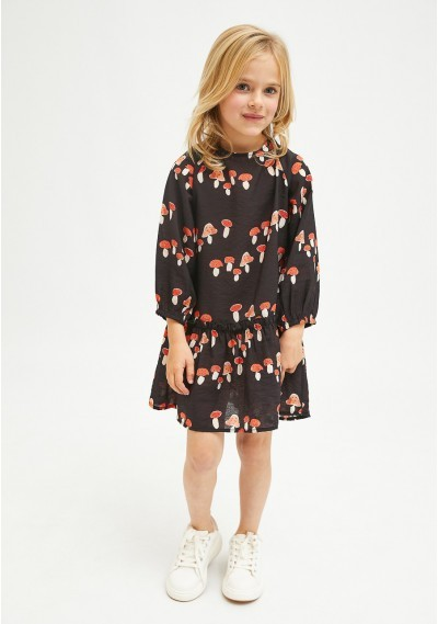 Toadstool print girl's mini dress -  Compañía Fantástica