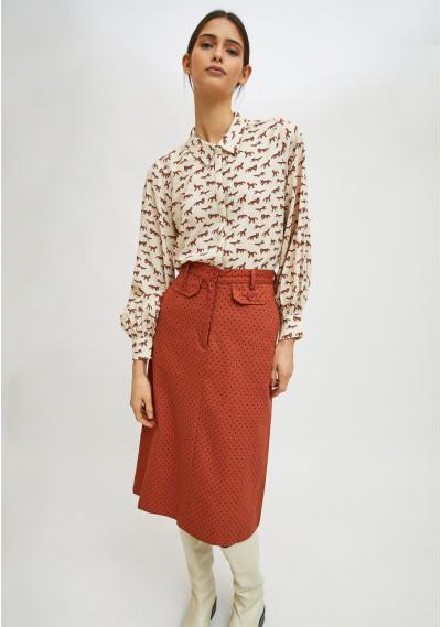 Fox print lightweight shirt