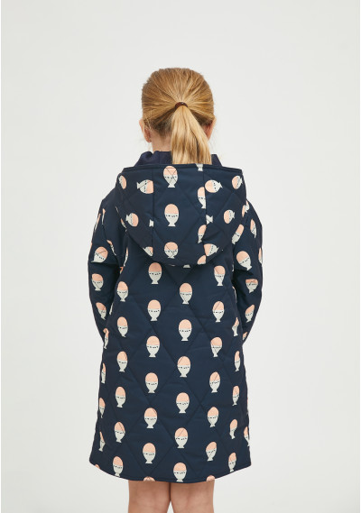 Boiled egg print unisex padded husky coat -  Compañía Fantástica