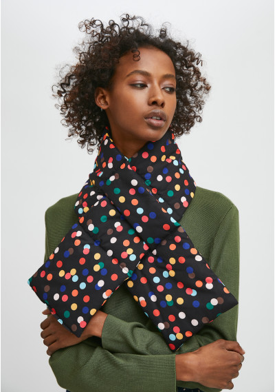 Padded scarf with confetti...