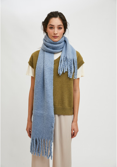 Blue soft knitted scarf...