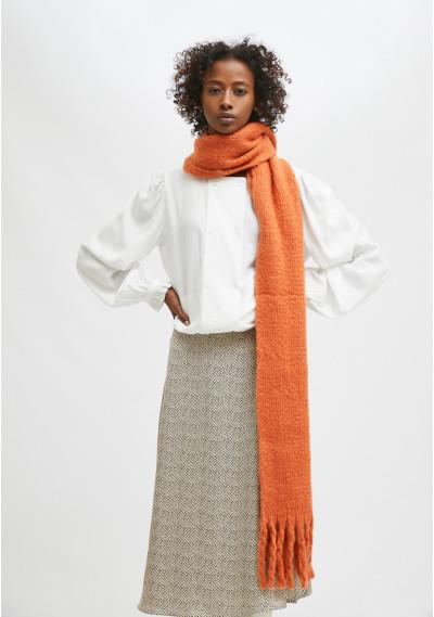 Orange soft knitted scarf...