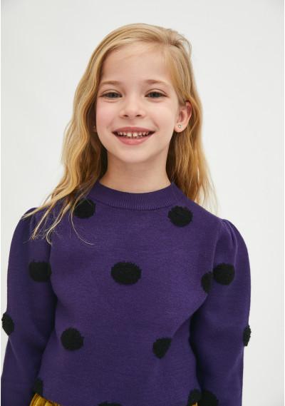 Girl's purple polka dot...