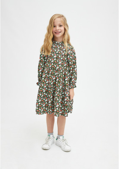 Girl's loose-fit dress in...