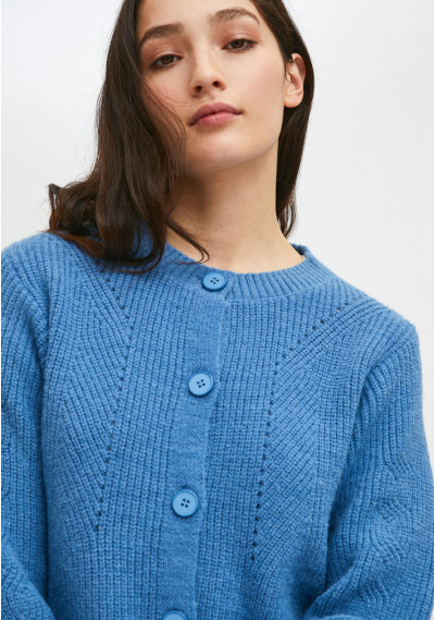Knitted jacket with...