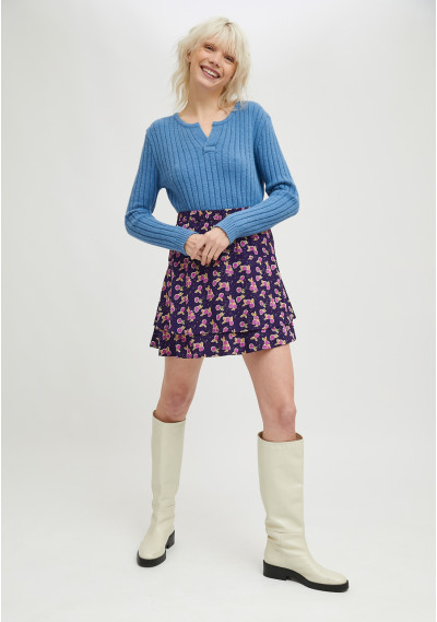Mini skirt with ruffles and...