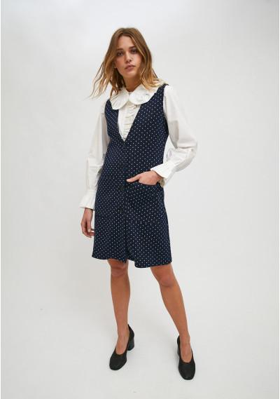 Pinafore style mini dress...