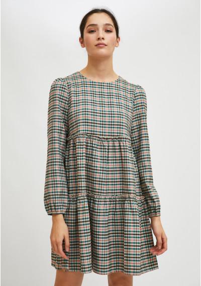 Mini smock dress with...