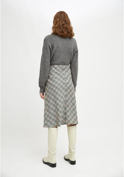 Smock skirt with check print -  Compañía Fantástica
