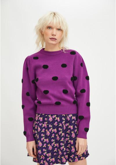 Violet fine-knit jumper...