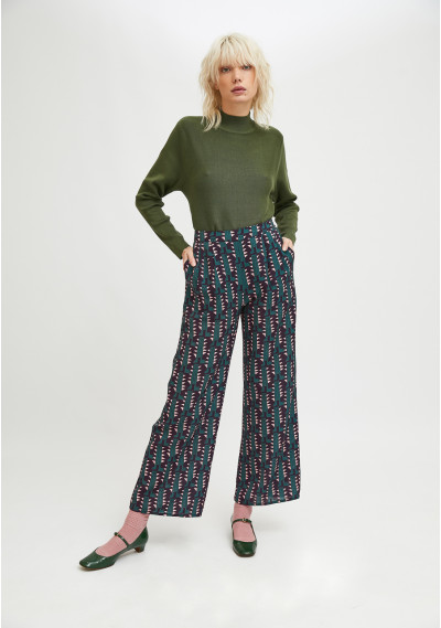 Straight-leg trousers with...