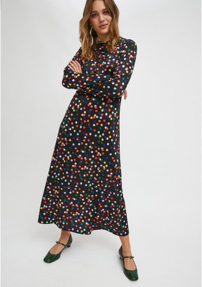 Smock dress with confetti...