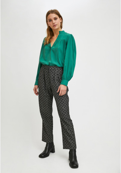 Straight mid-rise trousers...