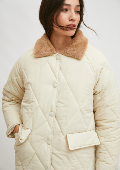 Long padded husky coat with...