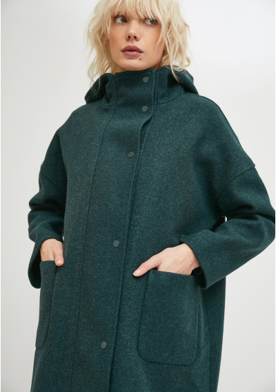 Giacca lunga in stile parka...
