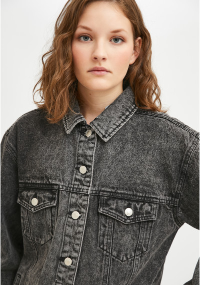 Giacca in jeans oversize...