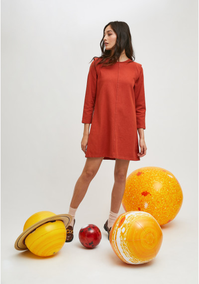 Short smock dress with...
