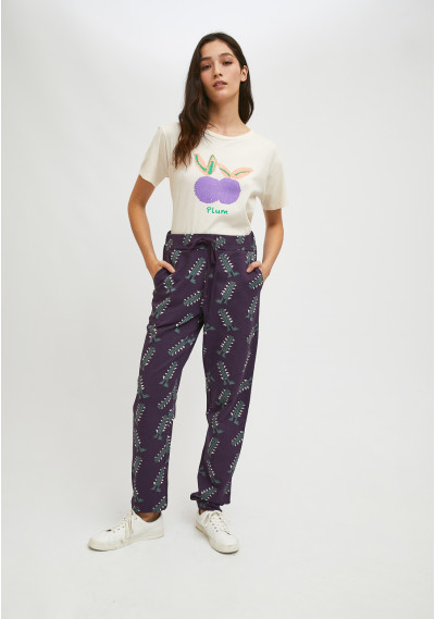 Cotton joggers with robot...