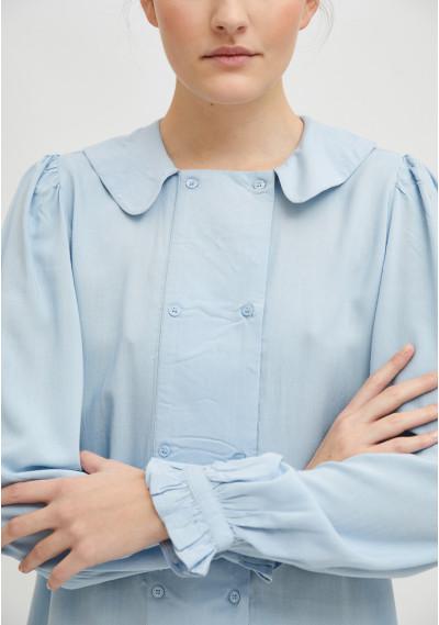 Camisa fluida con cuello...