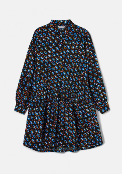 Geometric eye print mini shirt dress -  Compañía Fantástica
